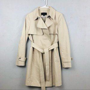 Ann Taylor Tan/ Beige Modern Trench Coat w/ Belt